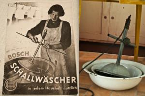La lavatrice a vibrazioni della Bosch, utile per ogni faccenda domestica.